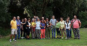 Foto di gruppo dei partecipanti all'escursione nella valle del Riu Arrubiu a Soleminis, Domenica 13 Ottobre 2013