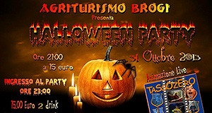 Locandina del Party di Halloween all'Agriturismo Santu Marcialis Brogi - Soleminis- 31 Ottobre 2013 - ParteollaClick