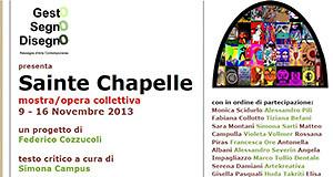 Locandina Sainte Chapelle - Donori, Ex montegranatico - Dal 9 al 16 Novembre 2013 - ParteollaClick