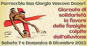 Locandina Bancarella della solidarietà e Sa Castangia Arrostia - Donori - 7 e 8 Dicembre 2013 - ParteollaClick