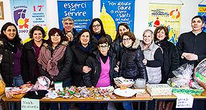 Foto di gruppo degli organizzatori della Giornata della Solidarietà - Donori - 7 e 8 Dicembre 2013 - ParteollaClick