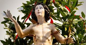 Foto della statua di San Sebastiano di Donori
