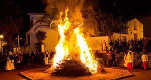 Foto del Falò di Sant'Antanio Abate a Donori - 17 Gennaio 2014