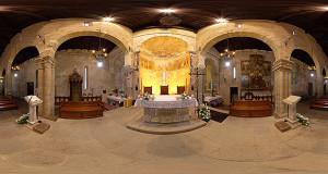 Foto Equirettangolare degli interni dell'ex Cattedrale di San Pantaleo di Dolianova