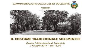 Manifesto per la manifestazione Il Costume Tradizionale Soleminise - Centro Polifunzionale Soleminis 7 Giugno 2014 - ParteollaClick