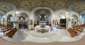 Foto equirettangolare della Chiesa di San Giorgio Vescovo a Donori