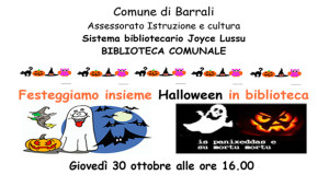 Locandina Festa di Halloween 2014 - Barrali - 30 Ottobre 2014 - ParteollaClick