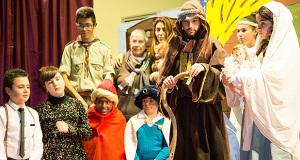 Foto con Giuseppe, Maria e il Bambino Gesù alla Festa della Santa Famiglia di Nazareth 2014 - Donori - 28 Dicembre 2014 - ParteollaClick