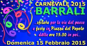 Locandina Sfilata e Festa di Carnevale 2015 - Barrali - 15 Febbraio - ParteollaClick