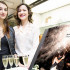 Giulia e Giada, le ParteollaClick Girls in posa con l'album Matrimoniale realizzato da Davide Pes e Salvatorangelo Piredda