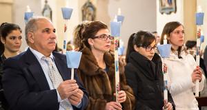 Foto alla nuova Priore e le due Priorissedde della Parrocchia di San Giorgio vescovo di Donori in occasione della Festa della Candelora del 2 Febbraio 2016