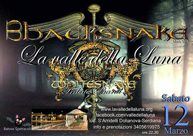 Blacksnake Tribute Band Whitesnake - Valle della Luna Serdiana - 12 Marzo 2016 - ParteollaClick