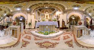 Foto Equirettangolare usata per il  Virtual Tour nella Chiesa di San Bernardino
