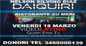 Banner Serata Salsaloca con Nelson Silvino Diaz Daiquiri e Giuseppe Sciuto - Ristorante Pizzeria Su Meri, Donori - 18 Marzo 2016 - ParteollaClick