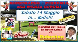 Banner Musica, Ballo e divertimento in compagnia di Robertino - Ristorante Pizzeria Su Meri, Donori - Sabato 14 Maggio 2016 - ParteollaClick
