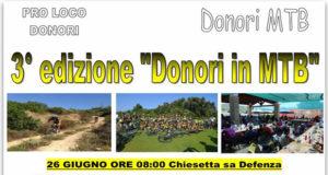 Banner Terza edizione di Donori MTB, giornata di attività sportive e tanto divertimento - Donori, Parco della Chiesetta Sa Defentza - Domenica 26 Giugno 2016 - ParteollaClick