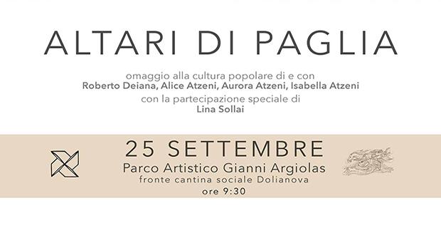 Banner Spettacolo Altari di Paglia Omaggio alla cultura popolare - Dolianova, Parco Artistico Gianni Argiolas - 25 Settembre 2016 - ParteollaClick