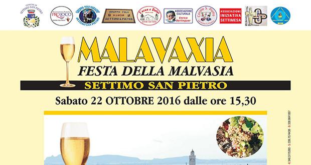 Banner Festa della Malvasia 2016 - Settimo San Pietro - Sabato 22 Ottobre 2016 - ParteollaClick