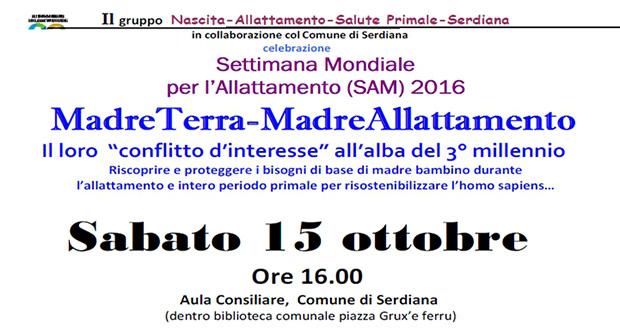 Banner Incontro informativo per la Settimana Mondiale dell'Allattamento 2016 - Serdiana - 15 Ottobre 2016 - ParteollaClick