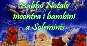 Banner Babbo Natale incontra i bambini sotto l'albero illuminato in Via Chiesa - Soleminis - Giovedì 22 Dicembre 2016 - ParteollaClick
