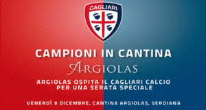 Banner Campioni in Cantina da Argiolas, serata di beneficenza con il Cagliari Calcio - Serdiana - 9 Dicembre 2016 - ParteollaClick
