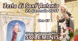 Banner Festa di Sant'Antonio Abate 2017 con il tradizionale falò - Chiesa Parrocchiale San Giacomo Maggiore, Soleminis - 21 Gennaio 2017 - ParteollaClick