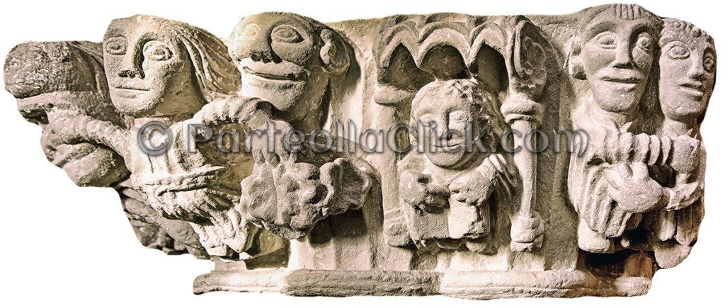Foto al Capitello presentazione di Gesù al Tempio di Gerusalemme - Cattedrale di San Pantaleo - Dolianova - ParteollaClick