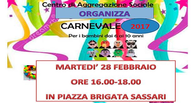 Banner Carnevale 2017 al Centro di Aggregazione Sociale - Dolianova, Piazza Brigata Sassari - 28 Febbraio 2017 - ParteollaClick