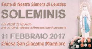 Banner Festa di Nostra Signora di Lourdes 2017 - Chiesa Parrocchiale San Giacomo Maggiore, Soleminis - 11 Febbraio 2017 - ParteollaClick