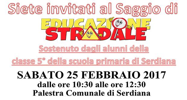 Banner Saggio di Educazione Stradale 2017 - Serdiana - Sabato 25 Febbraio 2017 - ParteollaClick