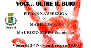Banner Voci...oltre il buio, recital di Pieranna Spezziga all'Ex Montegranatico - Donori - 24 Novembre 2017 - ParteollaClick