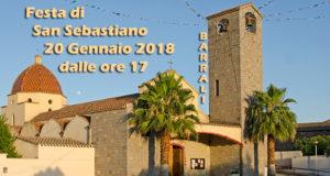 Banner Festeggiamenti in onore di San Sebastiano 2018 - Barrali, Chiesa Santa Lucia - 20 Gennaio 2018 - ParteollaClick