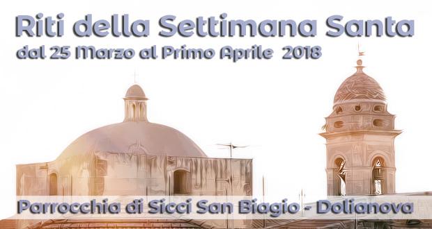 Banner Riti della Settimana Santa nella Chiesa di San Biagio - Dolianova - Dal 25 Marzo al Primo Aprile 2018