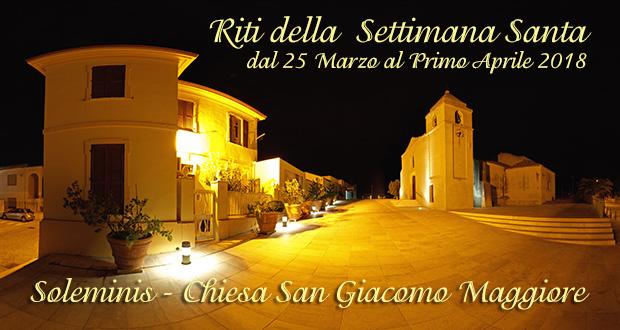 Banner Settimana Santa - Chiesa Parrocchiale San Giacomo Maggiore, Soleminis - Dal 25 Marzo al Primo Aprile 2018 - ParteollaClick
