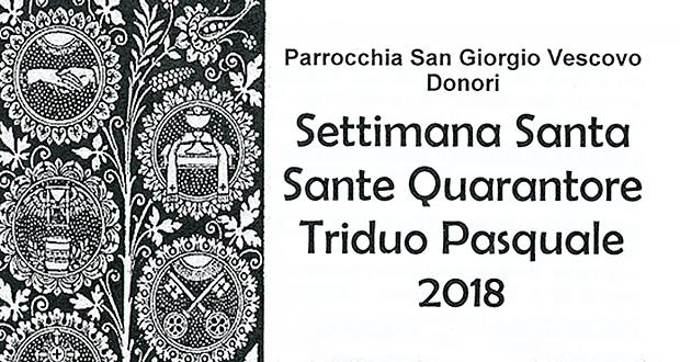 Banner Settimana Santa, Sante Quarantore e Triduo Pasquale 2018 - Donori - Dal 23 Marzo al 23 Aprile 2018 ParteollaClick