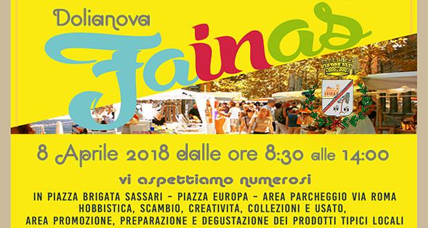 Banner Mercatino Domenicale Fainas - Dolianova - 8 Aprile 2018 - ParteollaClick