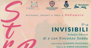 Banner Presentazione del libro INVISIBILI di e con Vincenzo Soddu - Dolianova, Biblioteca Comunale, Piazza Brigata Sassari 5 - Sabato 14 Aprile 2018 alle ore 19