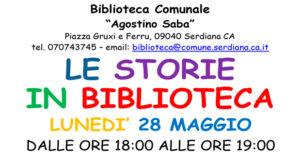 Banner Le Storie in Biblioteca, laboratorio di lettura del libro Buon Compleanno Orso - Serdiana - 28 Maggio 2018 - ParteollaClick