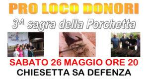 Banner Sagra della Porchetta 2018 - Donori, Parco di Sa Defenza - Sabato 26 Maggio 2018 - ParteollaClick