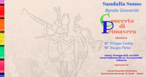 Banner Sandalia Sonos Concerto di Primavera 2018 del Circolo Musicale Parteollese - Dolianova - 19 Maggio 2018 - ParteollaClick