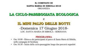 Banner Ciclopasseggiata e Mini Palio delle Botti al Parco di Santa Maria di Sibiola - Domenica 17 Giugno 2018 - ParteollaClick