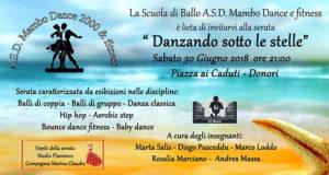 Banner Danzando Sotto le Stelle, 18° Anniversario della Scuola di Ballo Mambo Dance 2000 e Fitness - Donori - 30 Giugno 2018 - ParteollaClick