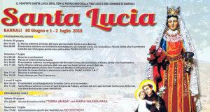 Banner Festeggiamenti in onore di Santa Lucia e Sant'Antonio di Padova 2018 - Barrali, Chiesa Santa Lucia - 30 Giugno, 1 e 2 Luglio 2018 - ParteollaClick - 620X330