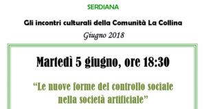 Banner Incontro Le nuove forme del controllo sociale nella società artificiale - Comunità La Collina, Serdiana - 5 Giugno 2018 - ParteollaClick