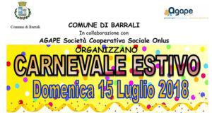 Banner Carnevale Estivo Barralese 2018 - Barrali - 15 Luglio 2018 - ParteollaClick