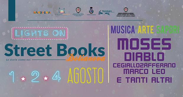 Banner Lights On Street Books 2018, musica, arte e sapori a Villa de Villa- Dolianova, Via Giosuè Carducci 7 - Mercoledì 1, Giovedì 2 e Sabato 4 Agosto 2018