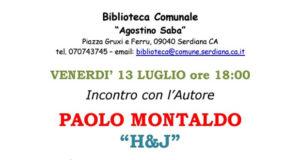 Banner Presentazione del libro H&J di e con Paolo Montaldo - Serdiana, Biblioteca Comunale - 13 Luglio 2018 - ParteollaClick