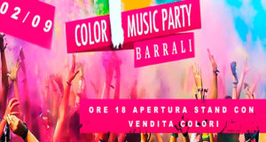 Banner Holi Color Music Party - Barrali, Piazza del Popolo - 2 Settembre 2018 - ParteollaClick