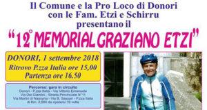 Banner 12° Memorial Graziano Etzi - Donori, Piazza Italia - 1 Settembre 2018 - ParteollaClick