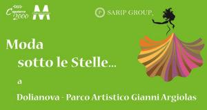 Banner Moda Sotto le Stelle, sfilata al Parco Artistico Gianni Argiolas - Dolianova - 14 Settembre 2018 - ParteollaClick
